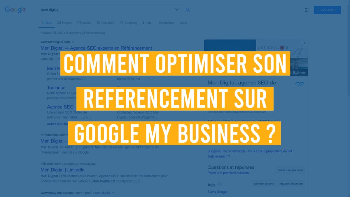 optimiser référencement google my business
